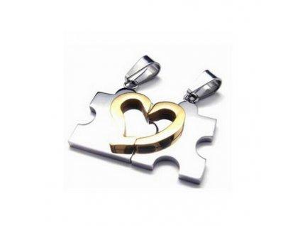 Srdce Puzzle pro dva