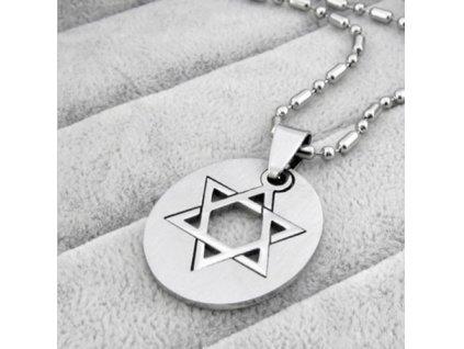 Židovská hvězda  s destičkou