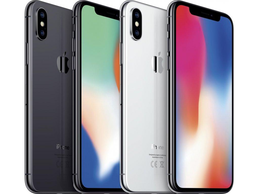 Apple iPhone X, stříbrná