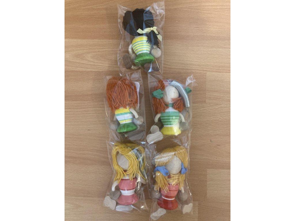 Dřevěné hračky - Dřevěná figurka - Holka