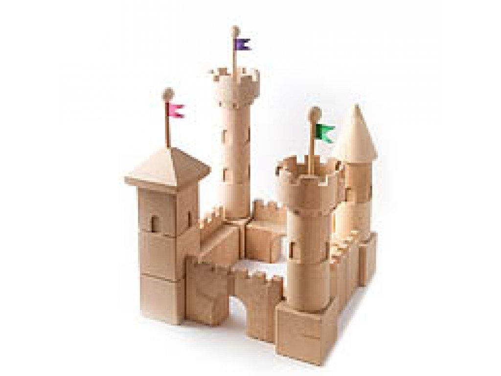 Dřevěné hračky - Dřevěný hrad - stavebnice