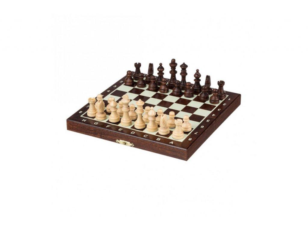 ŠACHOVÁ SOUPRAVA - Malé magnetické dřevěné šachy