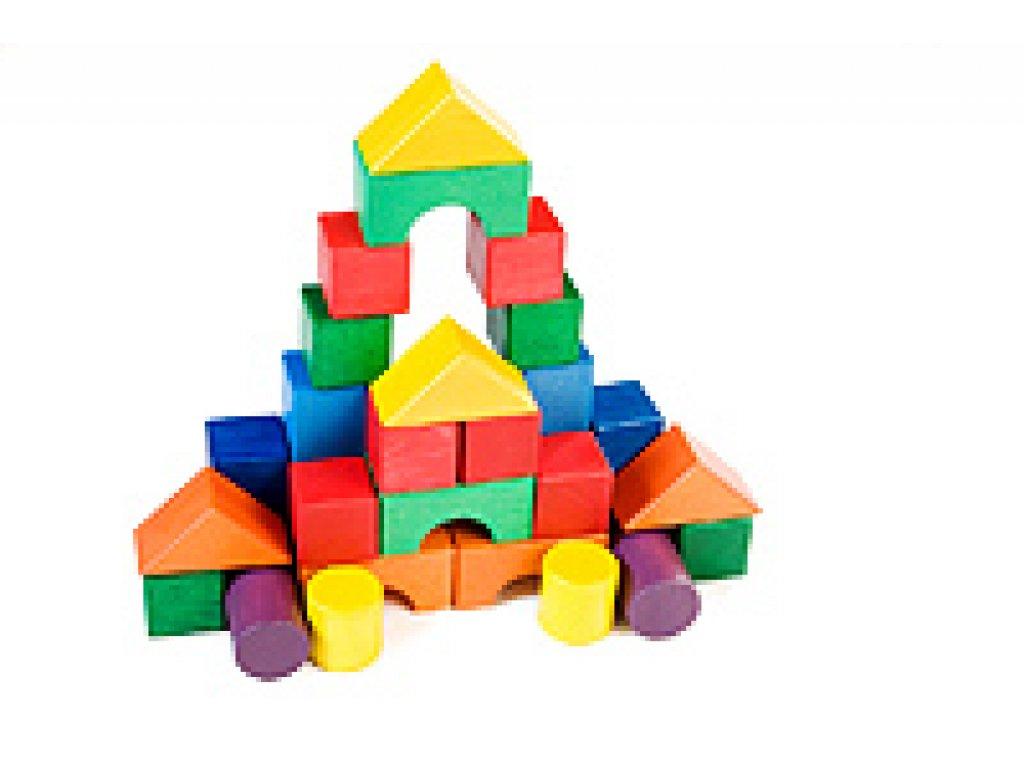 Dřevěné hračky - Stavební kostky
