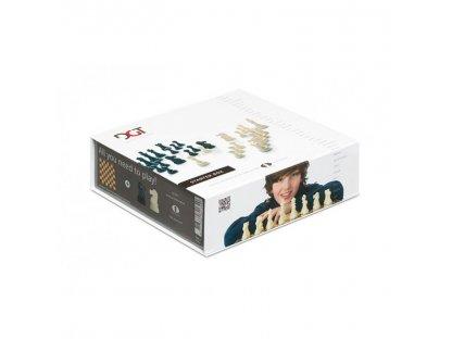 ŠACHOVÁ SOUPRAVA - DGT Chess Box Brown - šachová souprava ( šachovnice, plastové figurky, DGT hodiny)
