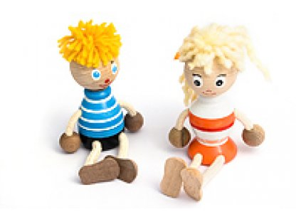 Dřevěné hračky - Dřevěná figurka - Kluk