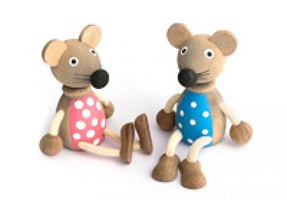 Dřevěné hračky - Dřevěná figurka - Myšák