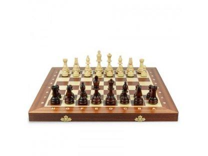 Dřevěné šachy 53cm x53 cm - velikost 6