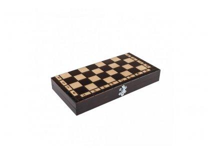 Dřevěné šachy malé 31 x 31 cm