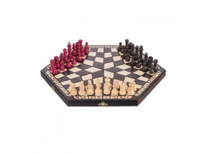 Wooden chess - hexagon for 3 players