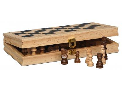 Levná dřevěná šachová souprava ECO - od rakouské firmy Piatnik