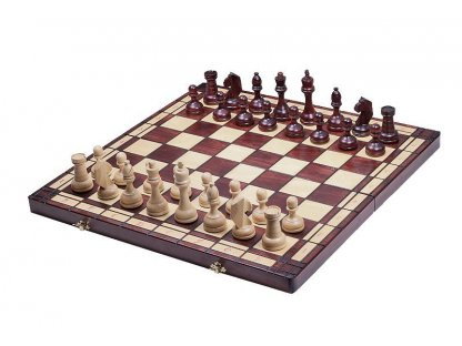President wooden chess - size 8