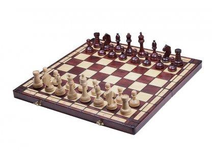 President dřevěné šachy - velikost 8