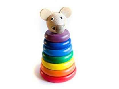Dřevěné hračky - Skládačka myška