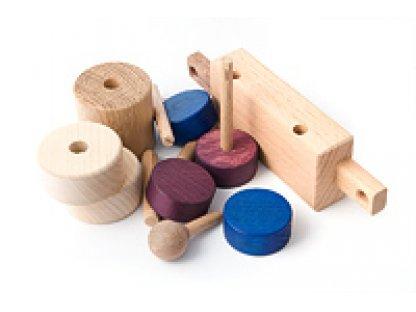 Dřevěné hračky - Stavebnice vláček