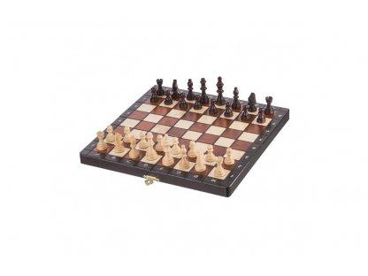 Medium magnetic wooden chess