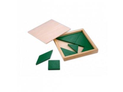 Tangram - barva zelený