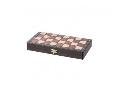 Large magnetic wooden chess - dark wood