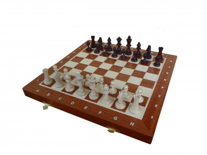 Velké magnetické dřevěné šachy  - světlé dřevo