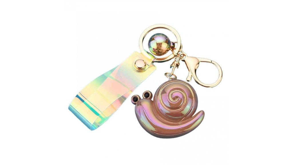 Akrylová klíčenka šnek