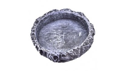 Grey terraristic bowl