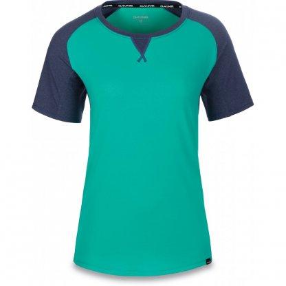 dres Dakine Xena Jersey krátký rukáv Aqua Green / Crown Blue