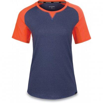 dres Dakine Xena Jersey krátký rukáv Crown Blue / Bright Coral