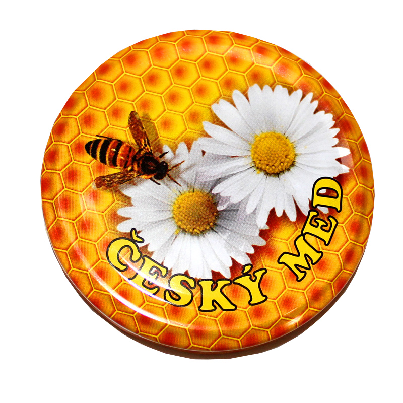 Víčka na sklenice na med