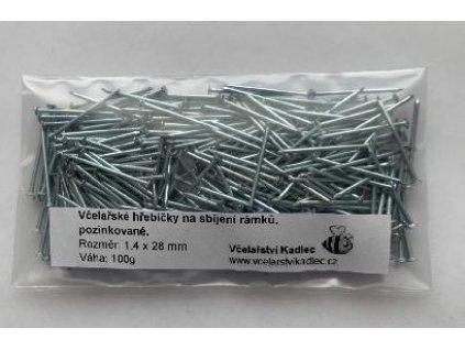 Hřebíčky pozink na sbíjení rámků 1,4x28mm, 100g