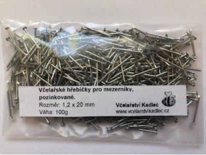 Hřebíčky pozink pro mezerníky 1,2x20mm, 100g