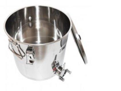 Stáčecí nádoba na med nerez, nerez kohout, 25kg, SB