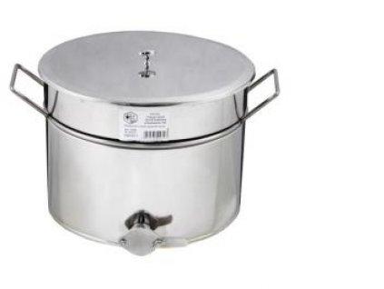 Stáčecí nádoba na med, nerez, nerez ventil, 30l, Lysoň