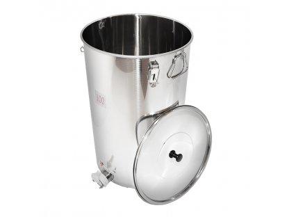 Stáčecí nádoba na med nerez, plast ventil, 100kg, SB