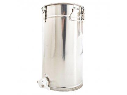Stáčecí nádoba na med nerez, plast. ventil, 50kg, SB