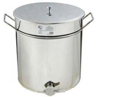 Stáčecí nádoba na med, nerez ventil, 50l (70kg), Lysoň