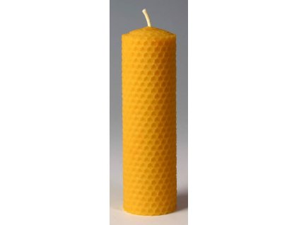 Svíčka ze včelího vosku, šíře 40mm výška 133mm