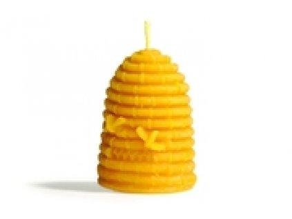 Svíčka ze včelího vosku - úlek se včelami