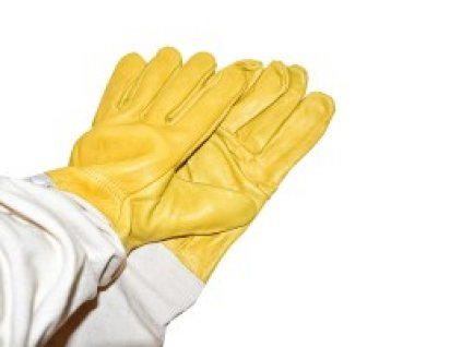 Včelařské rukavice, impregnované žluté