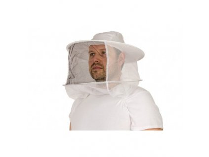 Včelařský klobouk Speciál, bílá a černá síťka
