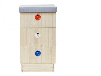 Včelí úl 39x24 zateplený 2cm (sestava-varroa dno, 3x nástavek, víko palubka, víko plech)