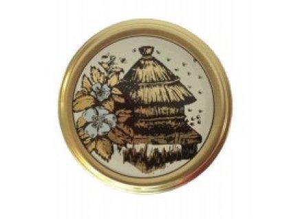 Víčko na med na sklenici - s košnicí