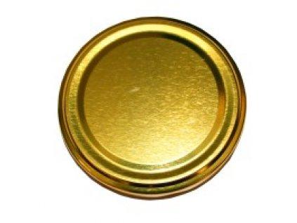Víčko na sklenici na med - zlaté